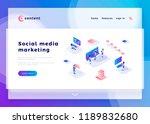 social media marketing office... | Shutterstock .eps vector #1189832680