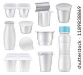 isolated realistic yoghurt... | Shutterstock .eps vector #1189838869