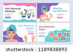 depilation horizontal banners... | Shutterstock .eps vector #1189838893