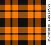 halloween tartan plaid.... | Shutterstock .eps vector #1189839703