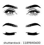 abstract fashion illustration... | Shutterstock .eps vector #1189840600