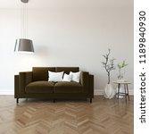 idea of a white scandinavian... | Shutterstock . vector #1189840930