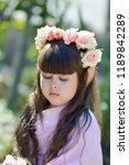 very beautiful elf girl.... | Shutterstock . vector #1189842289
