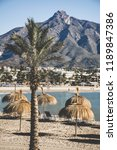 the mediterranean beach of...   Shutterstock . vector #1189847386