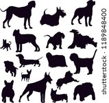 shadows of dogs of different... | Shutterstock .eps vector #1189848400