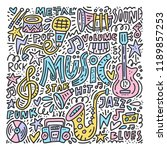 doodle style illustration with...   Shutterstock .eps vector #1189857253