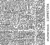 doodle style illustration with... | Shutterstock .eps vector #1189857256