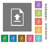 upload file flat icons on... | Shutterstock .eps vector #1189858246