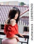 young beautiful asian woman... | Shutterstock . vector #1189859650