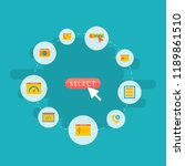 set of development icons flat... | Shutterstock .eps vector #1189861510