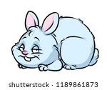 fat rabbit cartoon illustration ... | Shutterstock . vector #1189861873