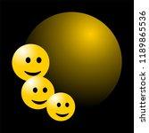 smile face background or... | Shutterstock .eps vector #1189865536
