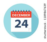 december 24   calendar icon  ... | Shutterstock .eps vector #1189867639