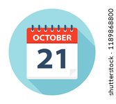 october 21   calendar icon  ... | Shutterstock .eps vector #1189868800