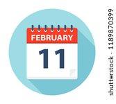 february 11   calendar icon  ... | Shutterstock .eps vector #1189870399