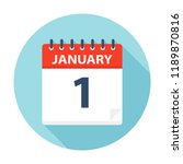january 1   calendar icon  ... | Shutterstock .eps vector #1189870816