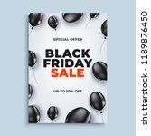 black friday sale vector banner ... | Shutterstock .eps vector #1189876450