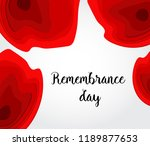 remembrance day of canada red... | Shutterstock .eps vector #1189877653