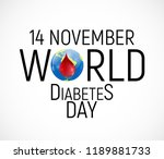 14 november. world diabetes day ... | Shutterstock .eps vector #1189881733