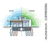 vector illustration of modern... | Shutterstock .eps vector #1189883086