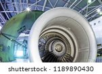 aircraft engine turbo jet with... | Shutterstock . vector #1189890430