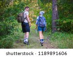 young couple walking in the... | Shutterstock . vector #1189891606