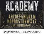 font handcrafted typeface... | Shutterstock .eps vector #1189900090
