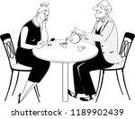 elderly couple on a date having ... | Shutterstock .eps vector #1189902439