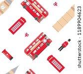 london symbols. seamless... | Shutterstock .eps vector #1189904623