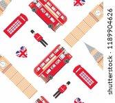 london symbols. seamless... | Shutterstock .eps vector #1189904626