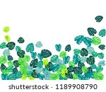 teal green tropical jungle... | Shutterstock .eps vector #1189908790