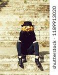 young halloween woman or girl... | Shutterstock . vector #1189913020