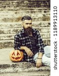 young halloween bearded man... | Shutterstock . vector #1189913110