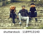 young halloween bearded man... | Shutterstock . vector #1189913140