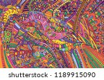 psychedelic colorful surreal... | Shutterstock .eps vector #1189915090