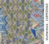 abstract pattern. gouache... | Shutterstock . vector #1189920463