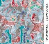 abstract pattern. gouache... | Shutterstock . vector #1189920466