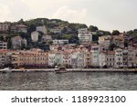 view of motorboats and yachts ...   Shutterstock . vector #1189923100