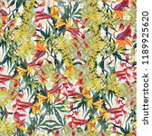 tropical pictorial pattern. oil ... | Shutterstock . vector #1189925620