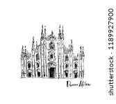 illustration of the duomo... | Shutterstock .eps vector #1189927900