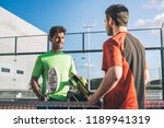 monitor teaching padel class | Shutterstock . vector #1189941319