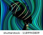 portrait beautiful african... | Shutterstock .eps vector #1189943809