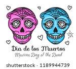 calavera sign dia de los...   Shutterstock .eps vector #1189944739