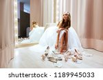 side view of young woman in... | Shutterstock . vector #1189945033