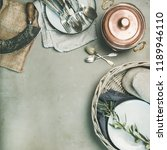 food cooking minimalistic... | Shutterstock . vector #1189946110