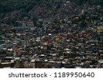 countless houses in the rocinha ...   Shutterstock . vector #1189950640