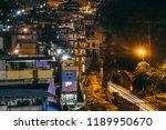 long exposure shot of the...   Shutterstock . vector #1189950670
