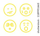 shock icons set with surprised... | Shutterstock .eps vector #1189951663