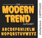 modern bold font and alphabet ... | Shutterstock .eps vector #1189952620