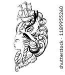 vector hand drawn illustration...   Shutterstock .eps vector #1189955260